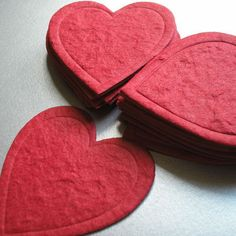 mulberry paper hearts