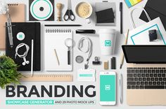 Branding Showcase Generator + Photos by Mockup Zone on Creative Market