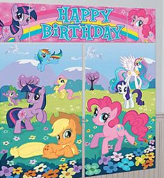 My Little Pony party decorations - backdrop or scene setter