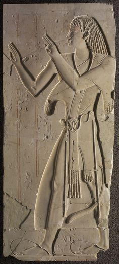 Limestone relief of Mentuemhat in Ecclesiastical Dress. Late Period. Late 25th dynasty - early 26th dynasty, c. 667 - 647 B.C.   Cleveland Museum of Art
