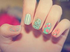 Flower design will be in demand for the season of summer and spring, so here is a step by step instruction on how to do Flower Nail Art Design yourself. Description from topnailsart.com. I searched for this on bing.com/images