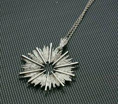 Knud V. Andersen for Anton Michelsen (DK), modernist sterling silver necklace, 1970s. #denmark | finlandjewelry.com