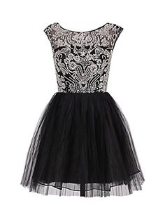 Dresstells Scoop Neck Deep V Neck Back Short Tulle Evening Prom Dress with Beading Black Size 30W Dresstells http://www.amazon.co.uk/dp/B00PF4ST1S/ref=cm_sw_r_pi_dp_VCQavb1Q74GGT