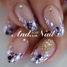 How to choose the shape of nails? - My Nails Beautiful Nail Designs, Cool Nail Designs, Sparkle Nails, Glitter Nails, Gold Sparkle, Japanese Nails, Nail Accessories, Creative Nails, Perfect Nails