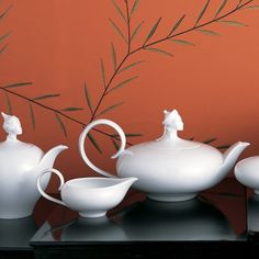 Bone china Orient Service by Ena Rottenberg, produced by Augarten, Vienna, 1930.