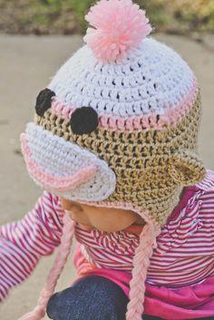 Sock Monkey Crochet Hat by CrazyLeggies on Etsy, $13.00