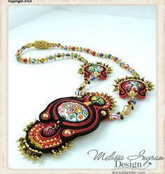 Venetian Tango - Soutache Neckpiece by Social Butterfly Jewellery, via Flickr