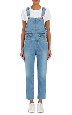 We Adore: The The Andy Denim Straight Overalls from FIORUCCI at Barneys New York