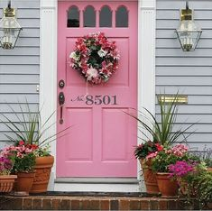 We will be looking into exterior door design ideas, after all, they're the welcoming point to your home. Get going and check the exterior door design that. Front Door Numbers, House Address Numbers, Front Door Colors, Front Door Decor, House Numbers, Front Porch, Front Entry, Porch Number, Number 15