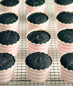 Sweetapolita — Black Velvet Cupcakes with Cherry Cream Cheese Frosting