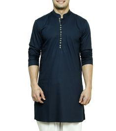 #Navy #Blue Cotton #Kurta by #See #Designs at #Indianroots