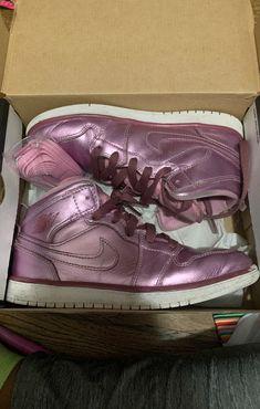 Air Jordan 1 mid kids size 2.5y | Mercari Jordan 1 Mid, Air Jordan, Kids Jordans, Happy Kids, Clothes For Sale, Pink Lace, Kids Girls, Girls Shoes, Size 2