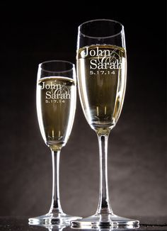 Rehearsal dinner toast Personalized Champagne Glasses Champagne Flutes by mrcwoodproducts, $22.00