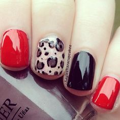 Red, black & cheetah print!!!