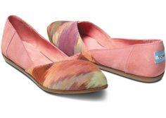 Pink Multi Women's Jutti Flats - TOMS $84