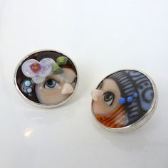 Couple  earrings by Glasting on Etsy, $99.00
