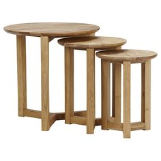 Stockholm Nest of Tables (oak) from Freedom Furniture