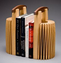 Stonehenge Bookends: Seth Rolland: Wood book ends - Artful Home - mi sitio Woodworking School, Woodworking Classes, Woodworking Techniques, Woodworking Ideas, Stonehenge, Wood School, Wood Bookends, Wood Vase, Wood Projects