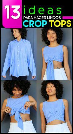 16dc398305f13b 13 Creativas ideas para convertir tu ropa vieja en lindos crop tops