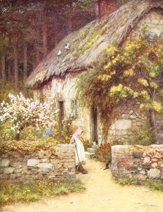 At a Cottage Door