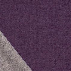 Heather Royal Purple Cotton French Terry Knit Fabric - A Girl Charlee designer overstock score!  A heather royal purple color cotton spandex blend french terry knit.  French terry has a jersey top side and a very low terry pile on bottom side of fabric with a soft drape, and good 4 way stretch, light to medium weight.  ::  $7.50