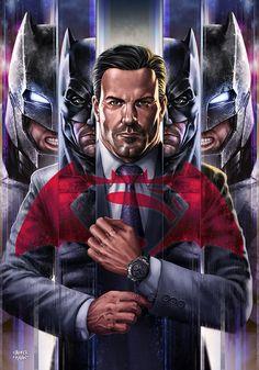 BRUCE WAYNE - Batman v SupermaN Poster Art by sadeceKAAN