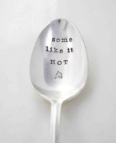 hand stamped spoon by Little Pine Jewelry