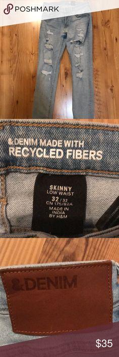 H&M distresses jeans H&M distressed jeans skinny fit H&M Jeans Skinny