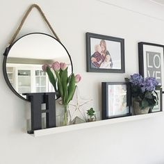Morning my lovelies I have been faffing around with the house the last couple of days, including changing up the shelf above my sofa. I'm loving this circle rope mirror, it's new online and in the shop (£40) and the faux tulips are £2.50 per stem! Link in the bio I love flowers and fake ones are the way forward, prettiness all year round Have a lovely weekend!