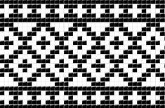 Tapestry Crochet Patterns, Fair Isle Knitting Patterns, Crochet Motifs, Knitting Charts, Crochet Chart, Mosaic Patterns, Loom Patterns, Filet Crochet, Knitting Stitches