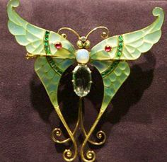 antique butterfly brooch
