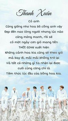 Thanh xuân có anh cũng giống như hoa bồ công anh vậy. Đẹp đến nao lòng người nhưng lúc nào cũng mỏng manh, rồi sẽ có một ngày cơn gió mang tên thời gian xuất hiện. Những cánh hoa kia cũng sẽ theo gió mà bay đi, mãi mãi không trở lại. Và tất cả những gì ta nhận lại được cuối cùng cũng chỉ là tiềm thức lúc đầu của bông hoa kia. Bts Taehyung, Bts Bangtan Boy, I Still Love You, My Love, Korea Quotes, Bts Cute, Bts Kim, Bts Love Yourself, Love Me Forever