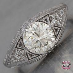 European Diamond Engagement Ring - EGL Certified