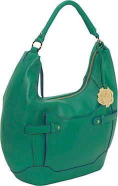 Vince Camuto George Pebble Leather Contrast Edge Hobo