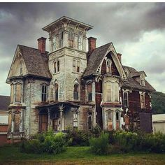Abandoned gothic home, circa 1880.