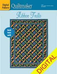 Ribbon Trellis Digital Pattern from QuiltandSewShop.com