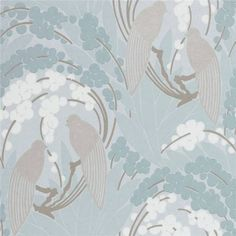 OFF RRP Call or email to order - Buy Harlequin Love Birds Wallpaper in Duck Egg Blue / Silver 60122 from Decor Supplies. FREE UK Delivery on orders over 95 pounds. Duck Egg Blue Wallpaper, Harlequin Wallpaper, Pattern Wallpaper, Wallpaper Ideas, Grey Luxury Wallpaper, Gray Wallpaper, Bedroom Wallpaper, Duck Egg Blue Bedroom, Boutique Wallpaper