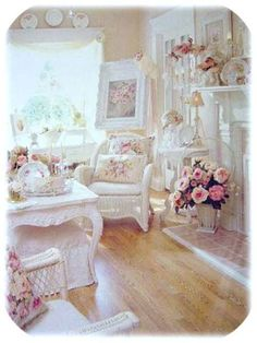I need a room like this in my place - obsessed with shabby chic!