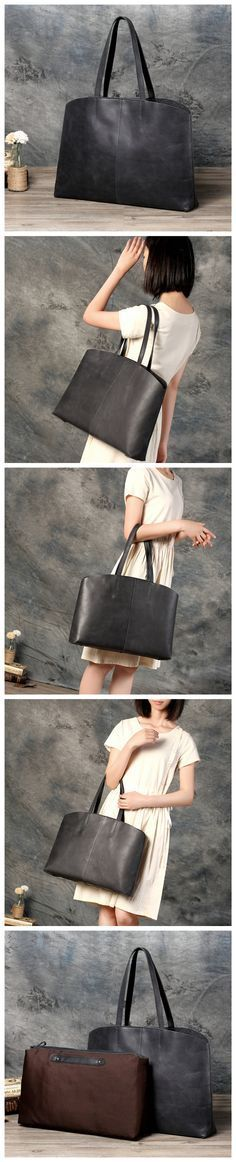 Women's Vintage Genuine Leather Tote Shoulder Bag Handbag Women's Fashion Leather Goods For Women
