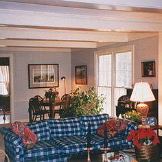 Plaid Livingroom ~ BEFORE