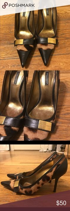 Dolce and Gabanna Leopard Pumps Vintage pumps still in good condition! Size 37 Shoes Heels