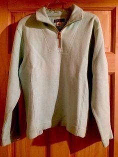 56.43$  Buy here - http://vieuw.justgood.pw/vig/item.php?t=tk4u3s556856 - Tommy Bahama Quarter Zip Pullover Sweatshirt XS Aqua Green Light Blue-super soft
