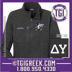 TGI Greek - Delta Upsilon - Homecoming Jacket - Kansas State Homecoming  #tgigreek #deltaupsilon