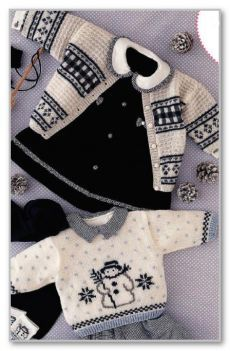 Beautiful baby cardigan and sweater Baby Boy Knitting Patterns, Baby Sweater Knitting Pattern, Knitted Baby Cardigan, Knit Baby Sweaters, Knitted Baby Clothes, Baby Clothes Patterns, Knitting Daily, Knitting For Kids, Filet Crochet Charts
