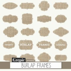 Burlap frames clipart BURLAP FRAMES clipart pack with by Grepic  https://www.etsy.com/listing/151787711/burlap-frames-clipart-burlap-frames?ref=shop_home_active_12