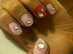 Find all of HelloGiggles' Beauty articles and videos to get the latest news and trends for women. Manicure And Pedicure, Pedicures, Hello Kitty Nails, Cat Nails, How To Do Nails, Nail Art, Hair, Finger Nails, Pedicure