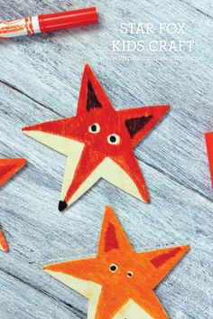 Learn how to make a fox out of a star! Super fun kids craft tutorial.