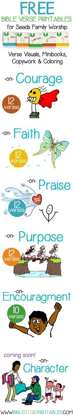 Bible Verses for Children, songs & printabes