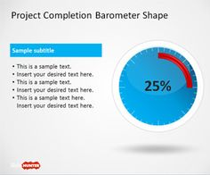 Project Completion Barometer template is a free PowerPoint template with barometer shapes that you can use to represent any desired meter level or quality using a barometer design #Slide Hunter #Free #PowerPoint Templates