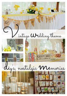 Vintage summer wedding theme with diys and nostalgic touches #summer #wedding